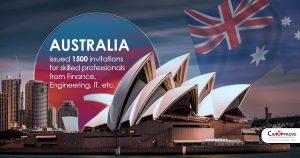 Australia issued 1500 invitations