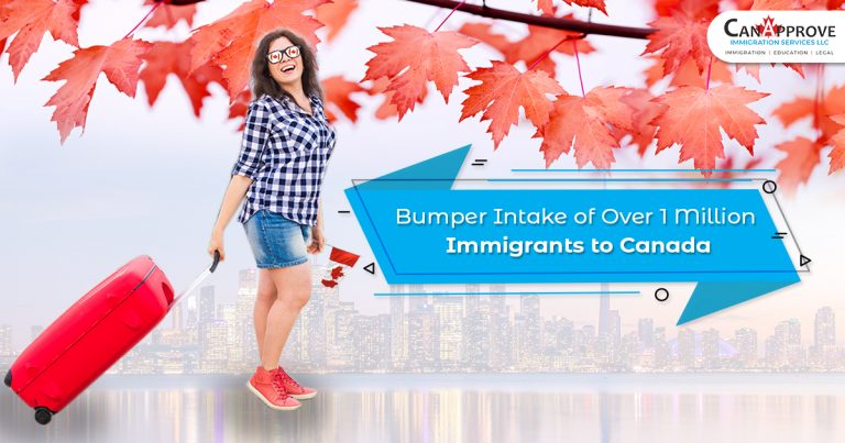 Bumper intake of over 1 million immigrants to Canada