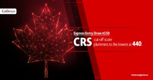 CRS cut-off score plummets to the lowest at 440.