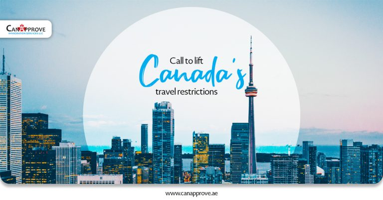Call to lift Canada's travel restrictions